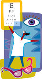 Diagramframställning av optometry royaltyfri illustrationer