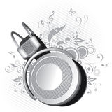 diagramheadphone Royaltyfri Foto