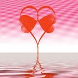diagramhjärtaförälskelse Arkivfoton