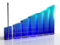 Diagramm 3d Stockfoto