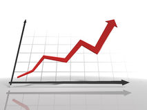 Diagramm 3d Lizenzfreie Stockfotos