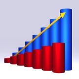 Diagramm 3D Stockfotografie