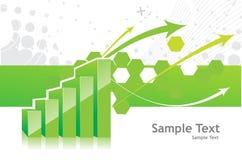 Diagramm 3d Lizenzfreies Stockfoto