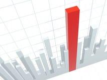 Diagramm 3d, positive Ergebnisse zeigend Stockfoto