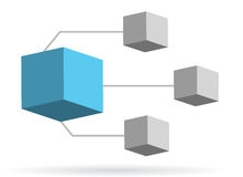 Diagramm-Abbildungauslegung des Kastens 3d Stockbild