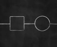 Diagramm auf Tafel Stockfotografie