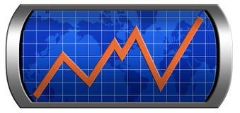 Diagramm der Entwicklung Lizenzfreies Stockfoto