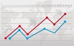 Diagramm der Entwicklung Stockfotografie