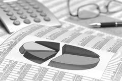 Diagramm der Finanzierung und der Börse Lizenzfreies Stockfoto