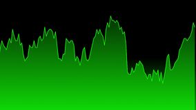Diagramm der Grünen Grenze auf schwarzem Hintergrunddiagramm des Börse-Investitionshandels vektor abbildung