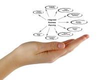 Diagramm der integrierten Unternehmensplanung Stockbild