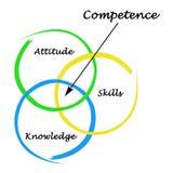 Diagramm der Kompetenz lizenzfreie abbildung