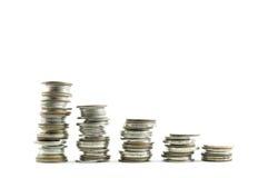 Diagramm der Münze Stockfoto