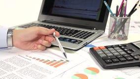 Diagramm des betrieblichen Gesamtbudgets stock video