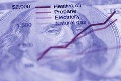 Diagramm des Energieverbrauchs stockfotos