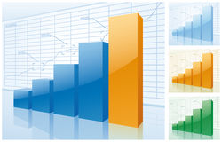 Diagramm des Erfolgs Stockfotos