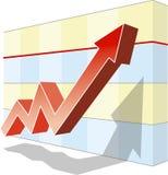 Diagramm des Erfolgs Stockfotografie