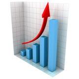 Diagramm des Geschäfts-3d Lizenzfreies Stockbild