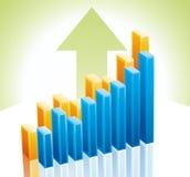 Diagramm des Geschäfts 3d Lizenzfreies Stockbild