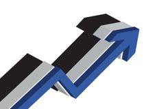 Diagramm des Geschäfts 3D Lizenzfreie Stockfotos