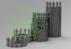 Diagramm des GeschäftserfolgDiagramms Stockbild