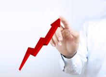 Diagramm des Wachstums 3D Stockfotografie
