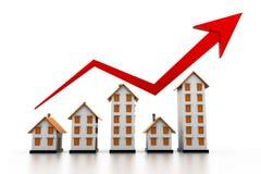 Diagramm des Wohnungsmarkts Lizenzfreie Stockbilder