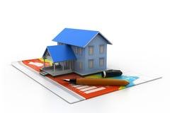 Diagramm des Wohnungsmarkts Stockbild