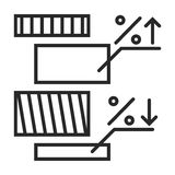 Diagramm  icon. In simple outline style. This icon are perfect for your websites and applications Stock Image