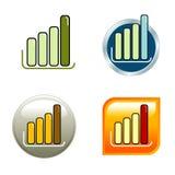 Diagramm-Ikonen stockbilder