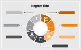 Diagramm Infographic Lizenzfreies Stockfoto