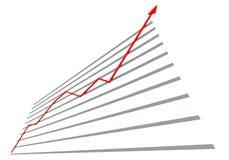 Diagramm mit roter Kurve vektor abbildung
