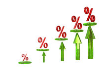 Diagramm procent Stockbilder