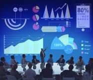 Diagramm-Prozentsatz-Geschäfts-Diagramm-Konzept Lizenzfreies Stockbild