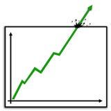 Diagramm super-positive3 Stockfotografie