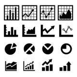 Diagramm-und Diagramm-Ikone Lizenzfreies Stockbild