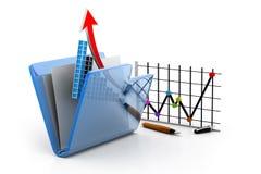 Diagramm und Diagramm im Ordner Lizenzfreie Stockbilder