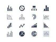 Diagramm und infographic Ikonen Lizenzfreies Stockbild