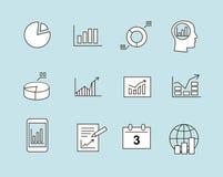 Diagramm und infographic Ikonen Stockfotografie