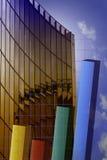 Diagramm und Wolkenkratzer Lizenzfreies Stockbild
