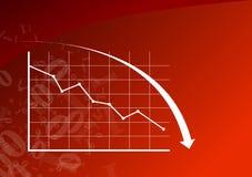 Diagramm unten Lizenzfreies Stockfoto