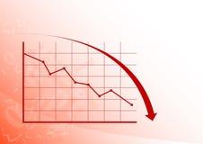 Diagramm unten Lizenzfreie Stockfotos