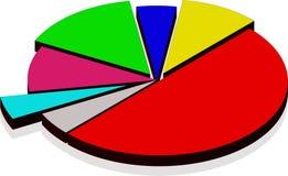 Diagramm von den Segmenten. Vektor Stockbilder