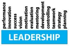 Diagramm von den Wörtern verbunden mit Führung stock abbildung