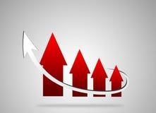 Diagramm von Pfeilen Stockfotos