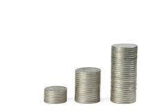 Diagramma 2 delle monete Fotografia Stock