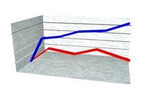 diagramma 3d Fotografia Stock Libera da Diritti