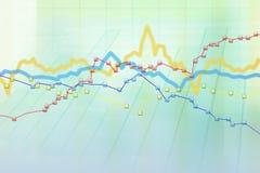 Diagramma astratto di tendenza della priorità bassa Fotografie Stock