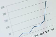 Diagramma - azzurro Immagini Stock