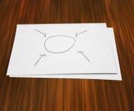 Diagramma in bianco su documento immagini stock
